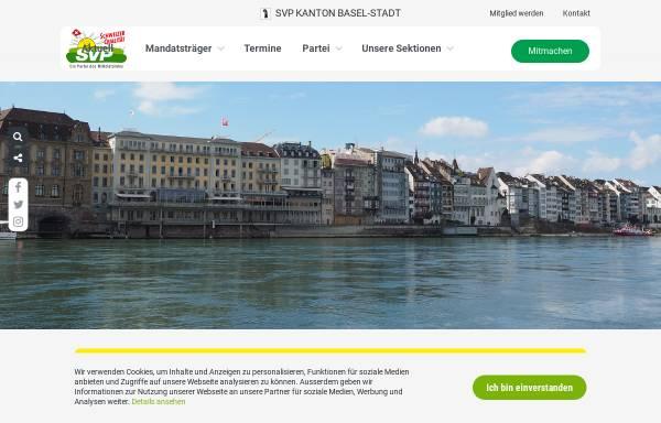 Vorschau von www.svp-basel.ch, Schweizerische Volkspartei Basel-Stadt - SVP