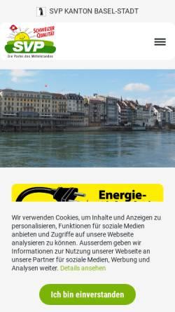 Vorschau der mobilen Webseite www.svp-basel.ch, Schweizerische Volkspartei Basel-Stadt - SVP