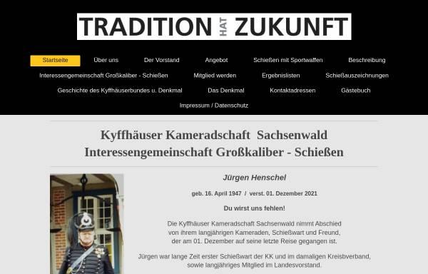 Vorschau von www.kk-sachsenwald.de, Kyffhäuser Kameradschaft Sachsenwald