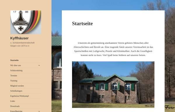 Vorschau von www.kyffhaeuser-siegen.de, Kyffhäuser- und Schützenkameradschaft Siegen von 1870 e.V.