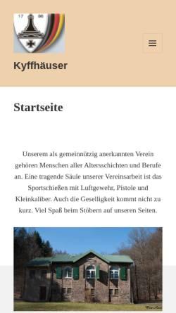 Vorschau der mobilen Webseite www.kyffhaeuser-siegen.de, Kyffhäuser- und Schützenkameradschaft Siegen von 1870 e.V.