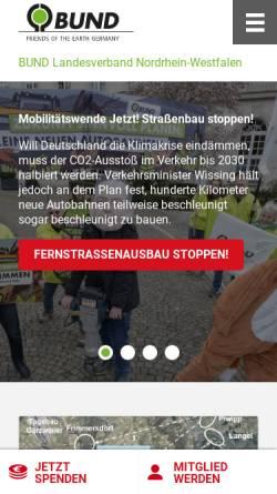 Vorschau der mobilen Webseite www.bund-nrw.de, Bund für Umwelt und Naturschutz Deutschland Landesverband Nordrhein-Westfalen e.V.