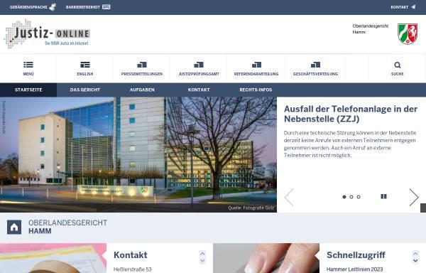 Vorschau von www.olg-hamm.nrw.de, Oberlandesgericht Hamm