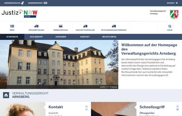 Vorschau von www.vg-arnsberg.nrw.de, Verwaltungsgericht Arnsberg