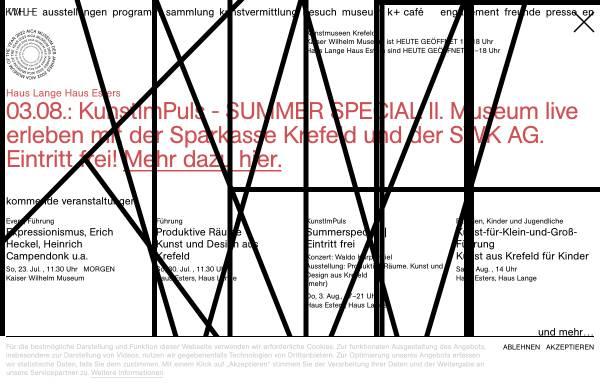 Vorschau von www.kunstmuseenkrefeld.de, Kunstmuseen