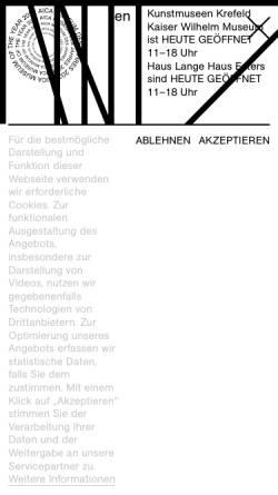 Vorschau der mobilen Webseite www.kunstmuseenkrefeld.de, Kunstmuseen