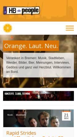 Vorschau der mobilen Webseite www.hb-people.de, HB-People