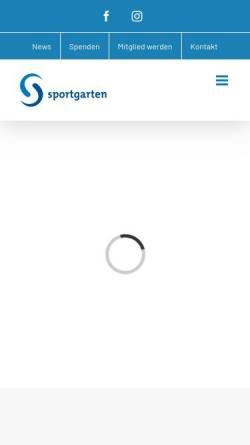 Vorschau der mobilen Webseite www.sportgarten.de, Sportgarten Bremen