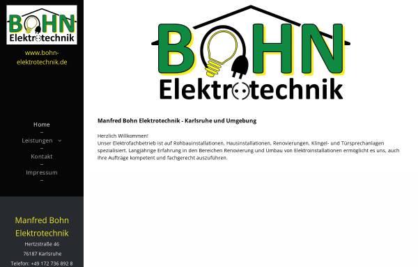 Vorschau von www.bohn-elektrotechnik.de, Manfred Bohn Elektrotechnik