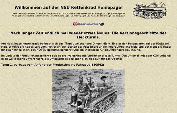 Vorschau von www.kettenkrad.de, NSU Kettenkrad