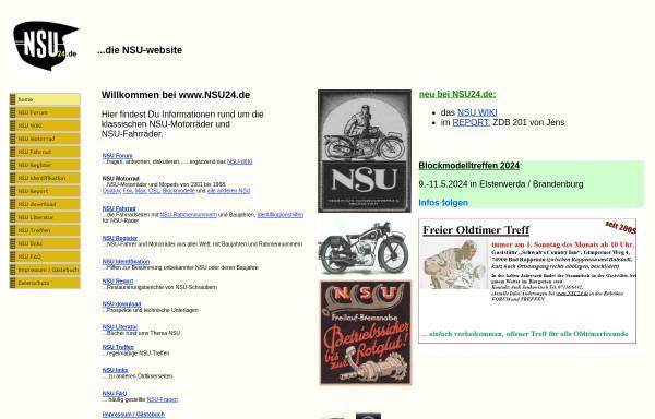 Vorschau von www.nsu24.de, NSU-Motorrad-Oldtimer