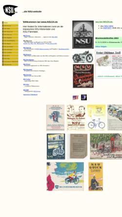Vorschau der mobilen Webseite www.nsu24.de, NSU-Motorrad-Oldtimer