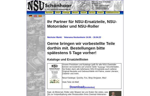 Vorschau von www.nsu-schoenhaar.de, NSU-Schönhaar, Unterensingen