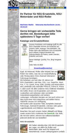 Vorschau der mobilen Webseite www.nsu-schoenhaar.de, NSU-Schönhaar, Unterensingen
