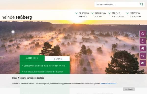 Vorschau von www.fassberg.de, Gemeinde Faßberg