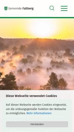 Vorschau der mobilen Webseite www.fassberg.de, Gemeinde Faßberg