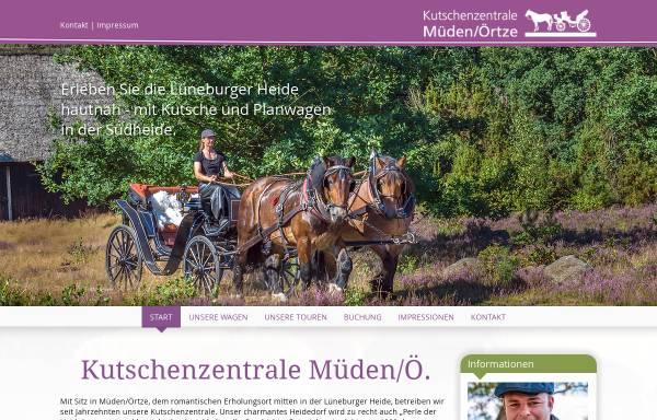 Vorschau von kutschenzentrale-mueden.de, Kutschenzentrale Müden
