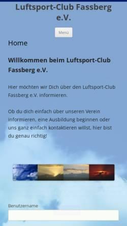 Vorschau der mobilen Webseite www.lsc-fassberg.de, LSC Faßberg e.V.