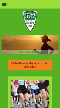 Vorschau der mobilen Webseite www.mtv-mueden.de, MTV Müden/Örtze