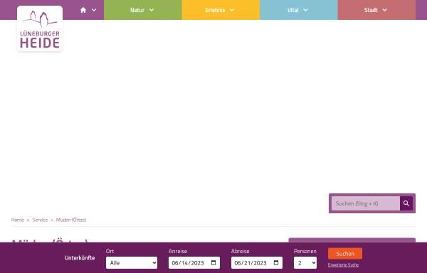 Vorschau von www.touristinformation-mueden.de, Müden/Örtze