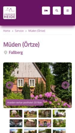 Vorschau der mobilen Webseite www.touristinformation-mueden.de, Müden/Örtze