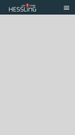 Vorschau der mobilen Webseite www.lichttechnik-hessling.de, Lichttechnik Hessling