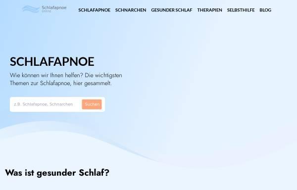 Vorschau von www.schlafapnoe-online.de, Schlafapnoe e.V.