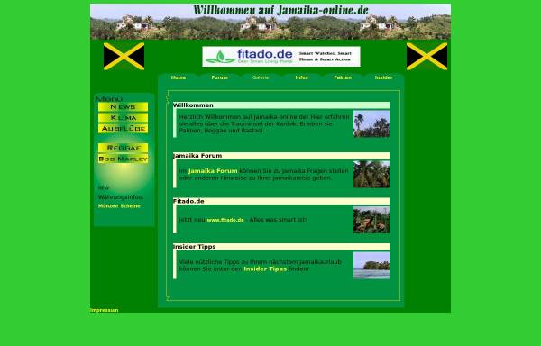 Vorschau von www.jamaika-online.de, Jamaika-Online