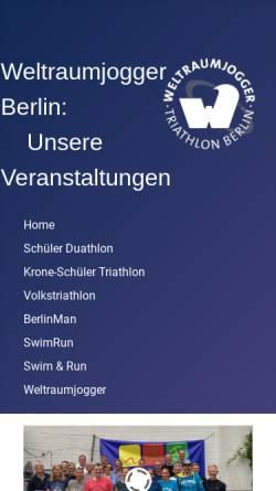 Vorschau der mobilen Webseite www.wj-tools.de, Berliner Volkstriathlon