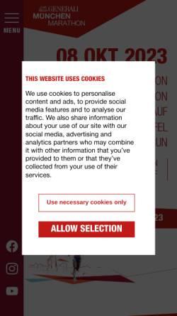 Vorschau der mobilen Webseite www.muenchentriathlon.de, München Triathlon