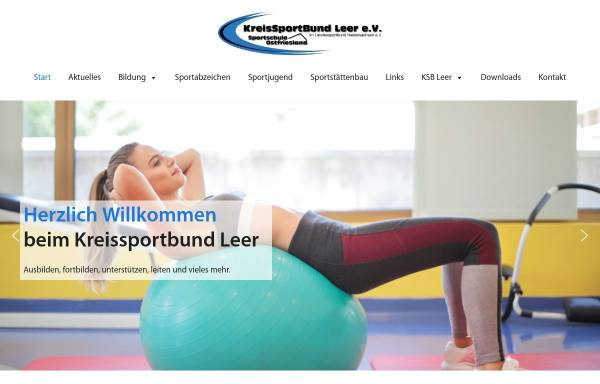 Vorschau von www.ksb-leer.de, Kreissportbund Leer e.V.