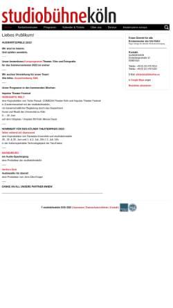 Vorschau der mobilen Webseite studiobuehnekoeln.de, Studiobühne Köln