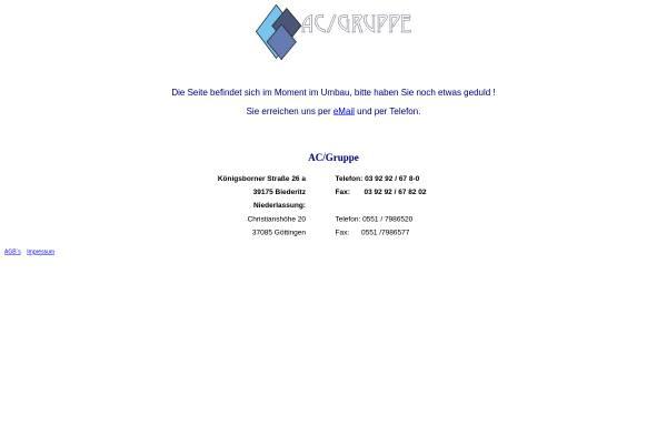 Vorschau von www.ac-bueroservice.de, AC/Gruppe M. Binkowski