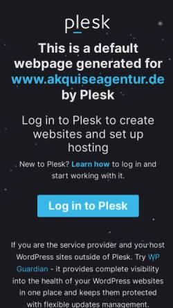 Vorschau der mobilen Webseite www.akquiseagentur.de, AkquiseAgentur e. K., Inh. Ursula Steinert