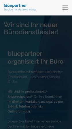 Vorschau der mobilen Webseite www.bluepartner.de, bluepartner GmbH