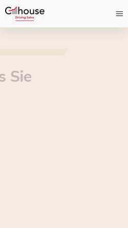 Vorschau der mobilen Webseite www.c-house.de, C-house Marketing GmbH