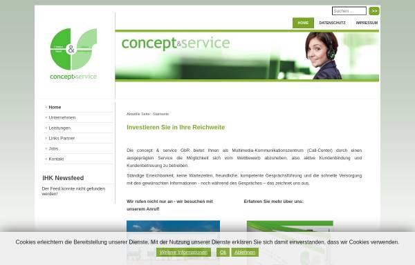 Vorschau von www.concept-serv.de, Concept & Service