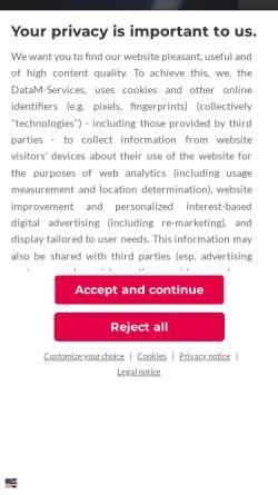 Vorschau der mobilen Webseite www.datam-services.de, DataM-Services GmbH