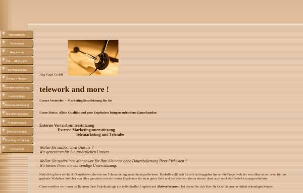 Vorschau von www.telework-and-more.de, Jörg Vogel GmbH