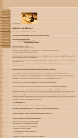 Vorschau der mobilen Webseite www.telework-and-more.de, Jörg Vogel GmbH