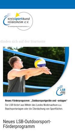 Vorschau der mobilen Webseite www.kreissportbund-hildesheim.de, Kreissportbund Hildesheim e.V.