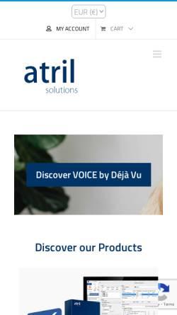 Vorschau der mobilen Webseite atril.com, Atril Software S.L.