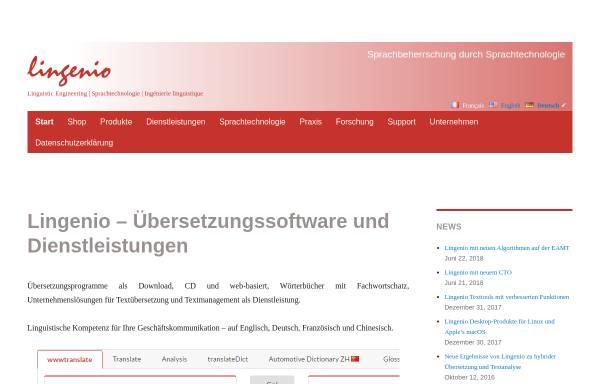 Vorschau von www.lingenio.de, Lingenio