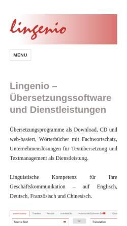 Vorschau der mobilen Webseite www.lingenio.de, Lingenio