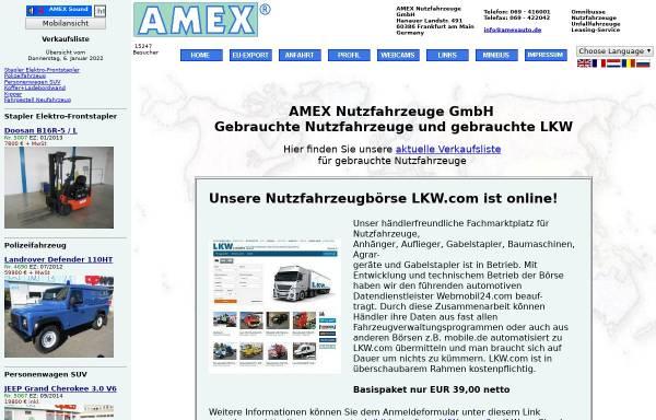 Vorschau von www.amexauto.de, Amex Nutzfahrzeuge