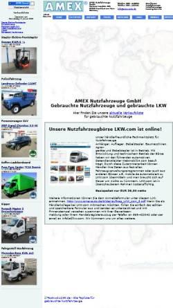 Vorschau der mobilen Webseite www.amexauto.de, Amex Nutzfahrzeuge