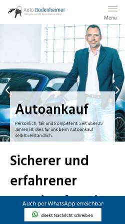 Vorschau der mobilen Webseite www.auto-bodenheimer.de, Auto Bodenheimer GmbH