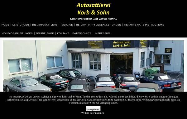 Vorschau von www.korbundsohn.de, Autosattlerei Korb & Sohn, Inh. Uwe Jösten