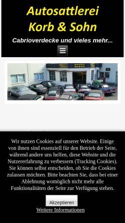 Vorschau der mobilen Webseite www.korbundsohn.de, Autosattlerei Korb & Sohn, Inh. Uwe Jösten