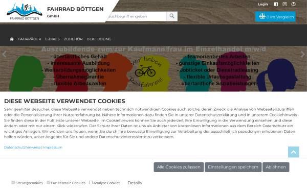 Vorschau von www.fahrrad-boettgen.de, Fahrrad Böttgen GmbH